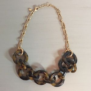 JCrew Resin Tortoise Statement Necklace ~Like new~